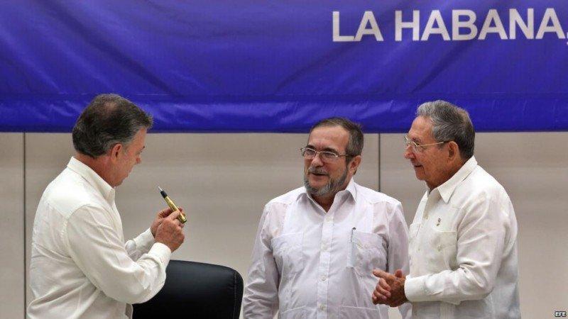 Colombia y las FARC firmaron la paz luego de 50 años