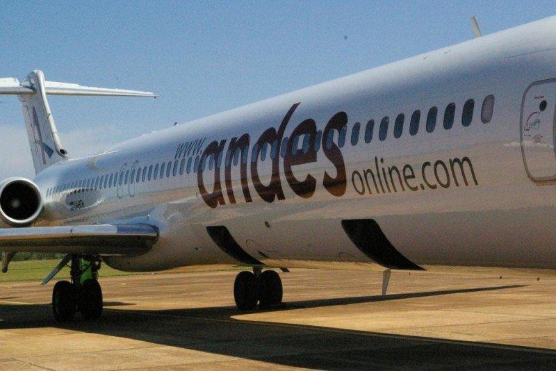 Por año Andes transporta cerca de un millón de pasajeros entre charter y vuelos regulares.