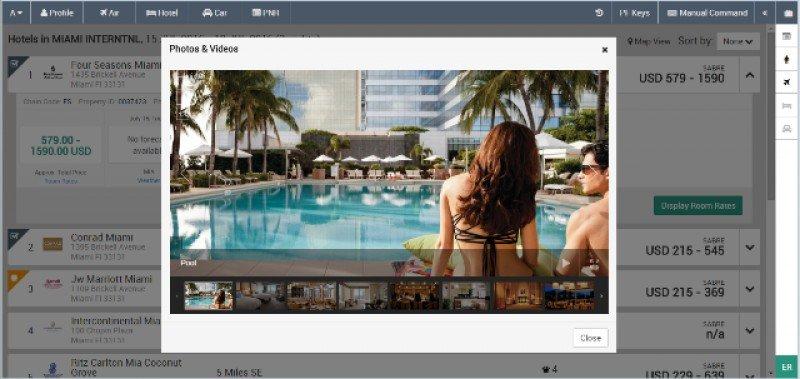 Los proveedores -hoteles, aerolíneas- pueden colocar fotos y videos en el nuevo Sabre Red Workspace, 'una oportunidad de diferenciar su producto en el punto de venta.