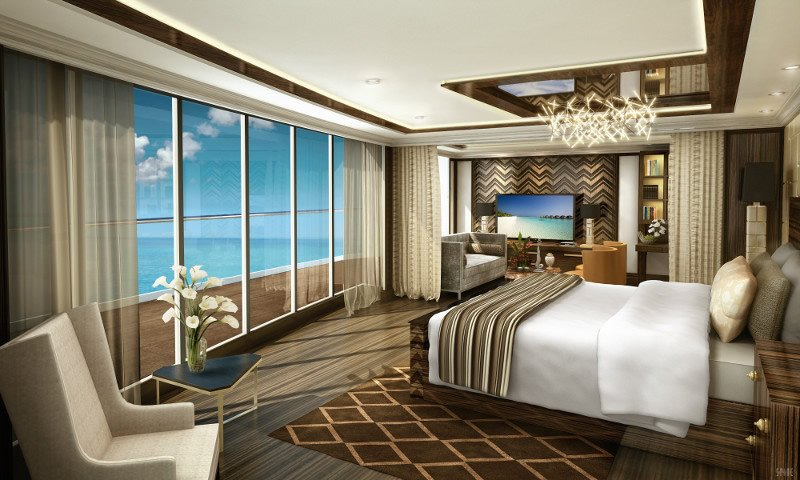 La Regent Suite, de 360 metros cuadrados y con unas vistas de 270 grados, dispone de un spa de uso exclusivo.