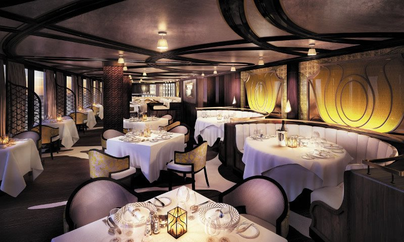 La oferta gastronómica del Seven Seas Explorer incluye el restaurante Chartreuse, de alta cocina francesa.