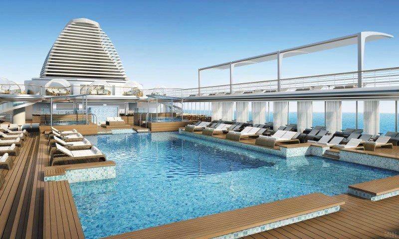 Inspirada en los hoteles boutiques, la piscina tiene reminiscencias asiáticas con toques caribeños.