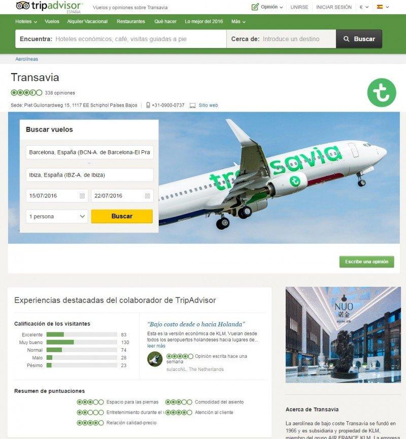 TripAdvisor: los viajeros opinarán ahora sobre las aerolíneas