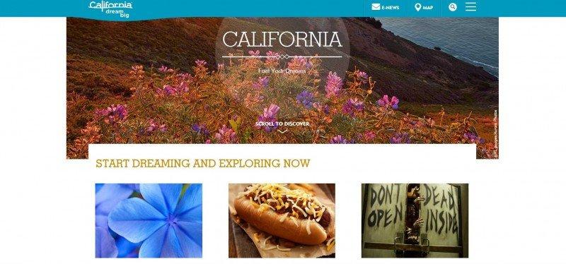 Página web de California.
