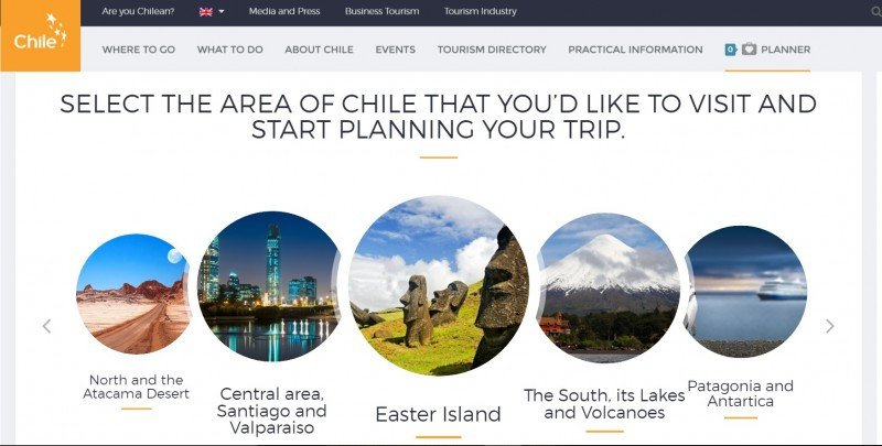 La web de Chile.