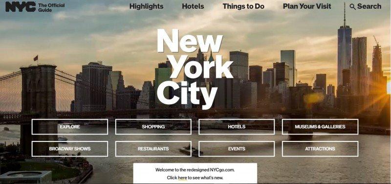 La web de Nueva York.