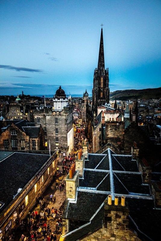 Edinburgo, la capital de Escocia.