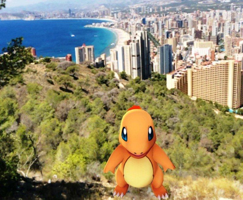 Uno de los Pokemons que puede encontrarse en el Parque Natural de Benidorm.