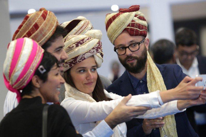 Imagen de archivo de visitantes profesionales en un encuentro organizado por la oficina de turismo de la India en la WTM de 2015.