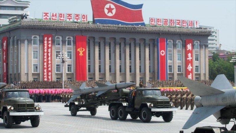 El edificio del Partido de los Trabajadores, en Pyongyang.