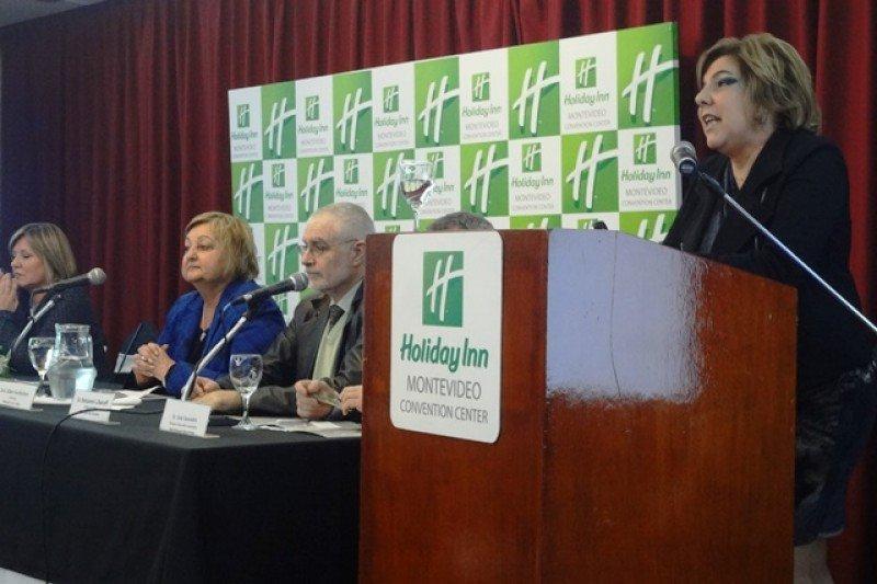 Adriana Careaga, presidenta del Montevideo Bureau, en el lanzamiento del nuevo organismo.