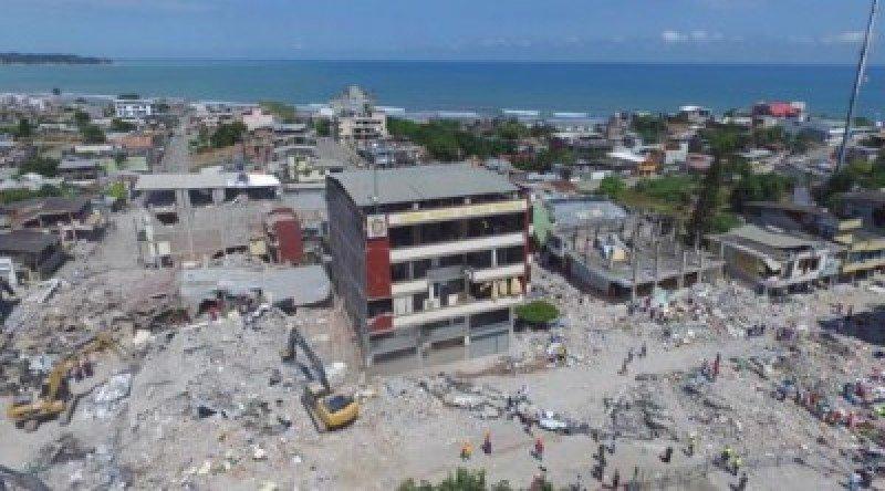 Imagen del terremoto de abril en Ecuador.