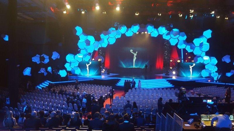 Escenario de la gala de los Premios Platino 2016 en Punta del Este.