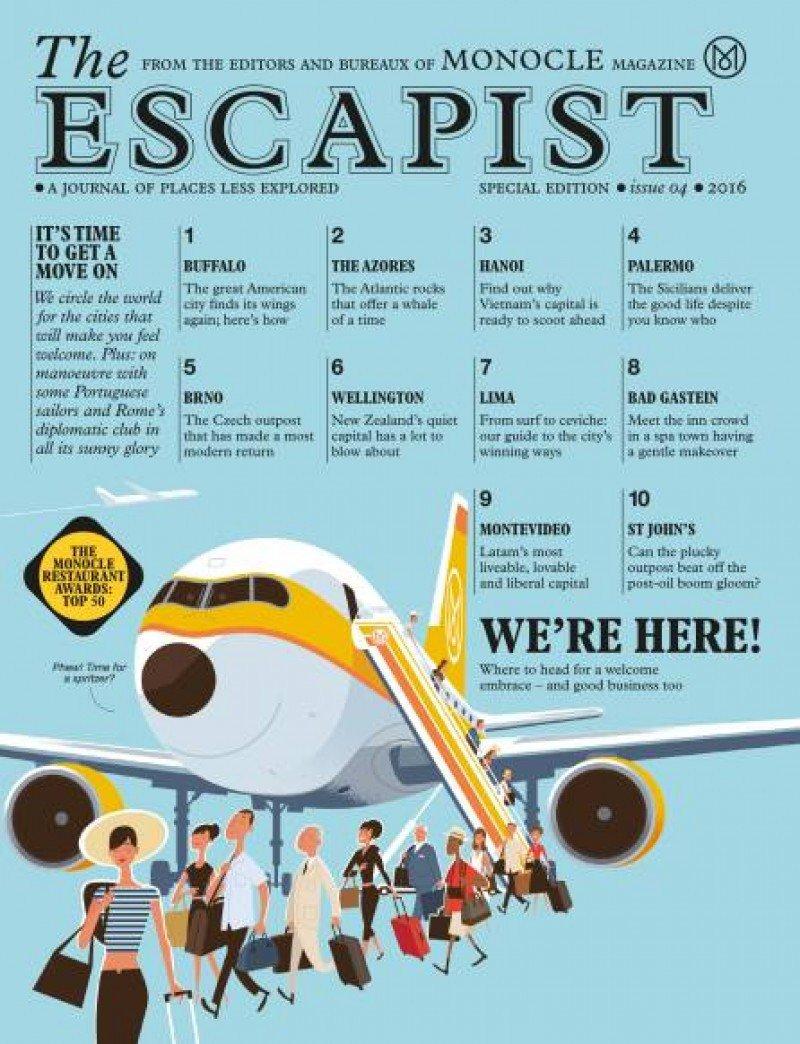Tapa de la edición The Escapist de Monocle de julio 2016.