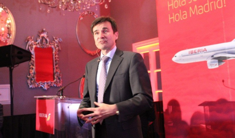 El director comercial de Iberia, Marco Sansavini, explicó algunos aspectos de la estrategia de la compañía para mejorar su rentabilidad.
