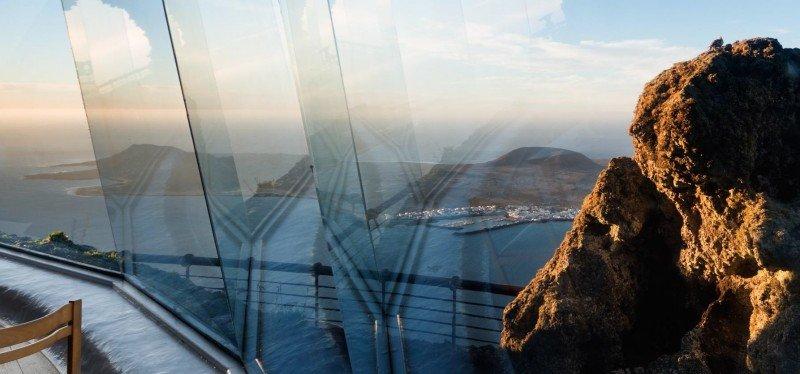 Uno de los CACT es el Mirador del Río, una las creaciones arquitectónicas más representativas de César Manrique.