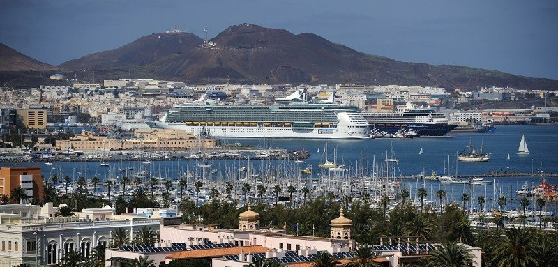 Panorámica de Las Palmas de Gran Canaria.