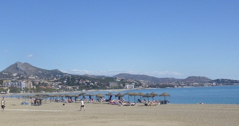 Imagen de archivo de las playas de Málaga.