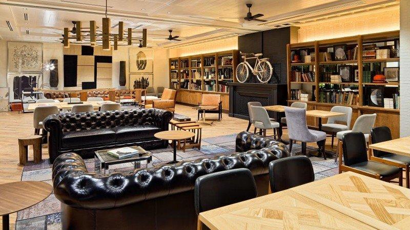 El espacio The Library también está disponible para eventos privados.