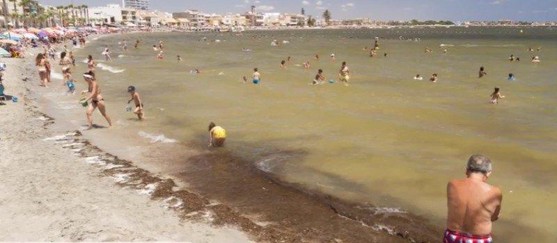 Una imagen del Mar Menor, el pasado 17 de julio.