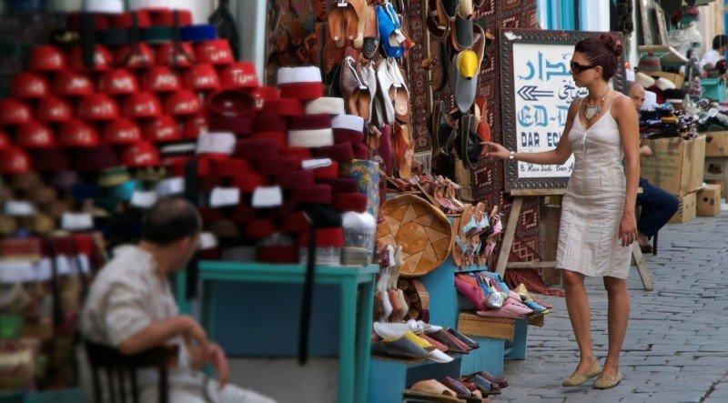 Compras en Túnez.