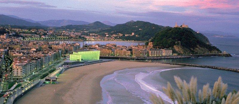 Una imagen panorámica de San Sebastián.