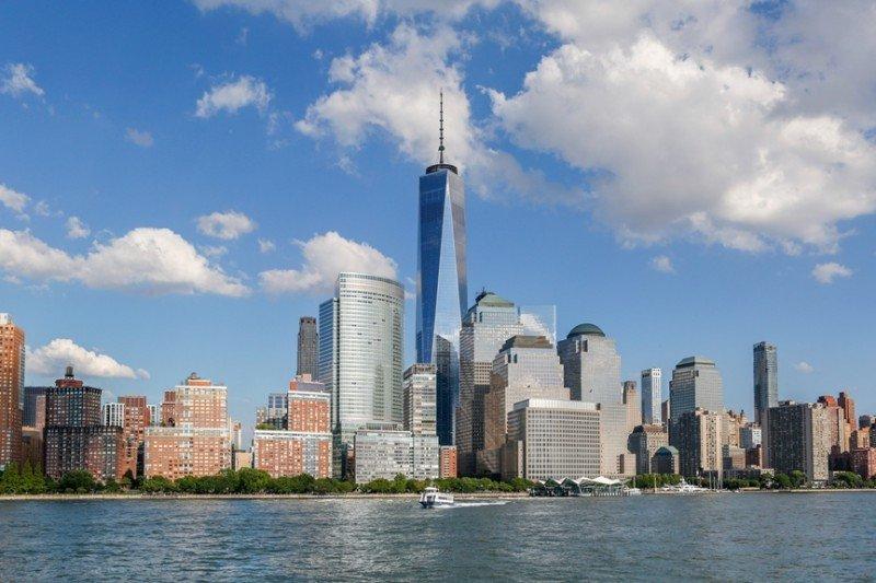 El nuevo skyline de Nueva York, con la torre de 541 metros de altura del One World Trade Center, que abrió en mayo de 2015.