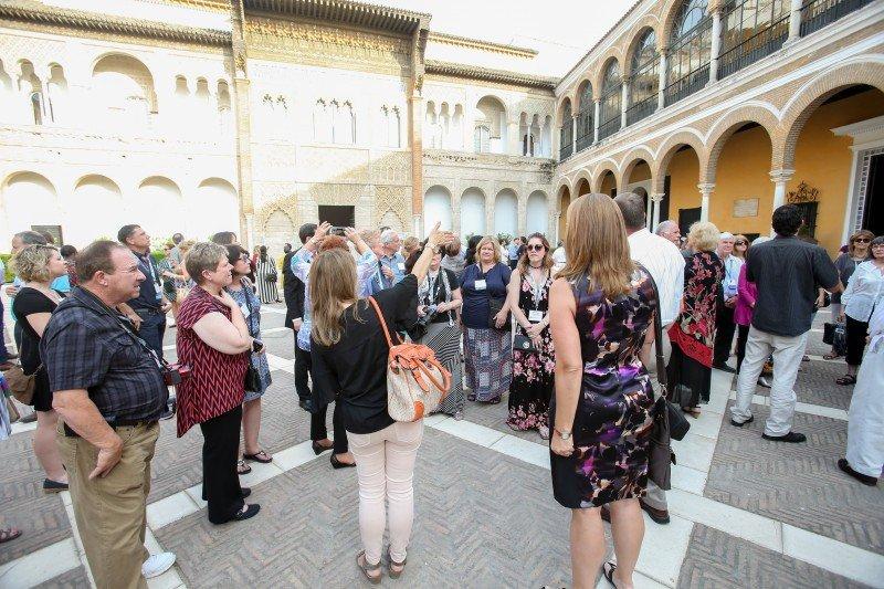 Agentes de viajes miembros de ASTA en Sevilla.