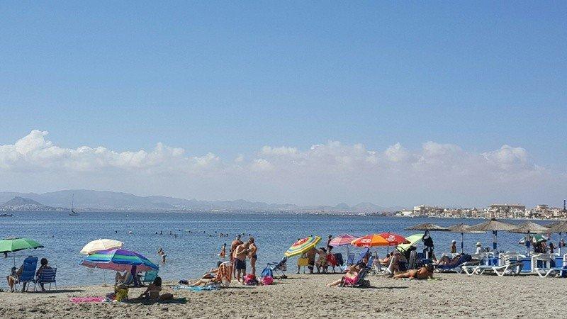 Imagen del Mar Menor tomada el 23 de agosto.