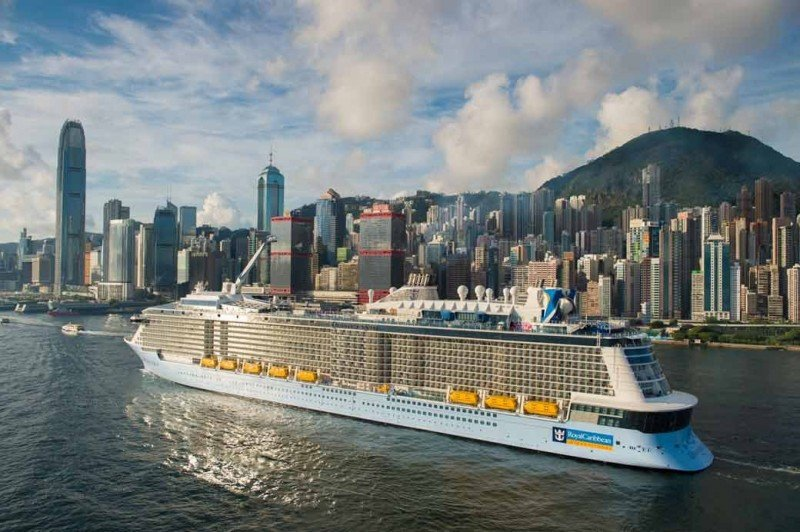 Quantum of the Seas en el puerto de Hong Kong.