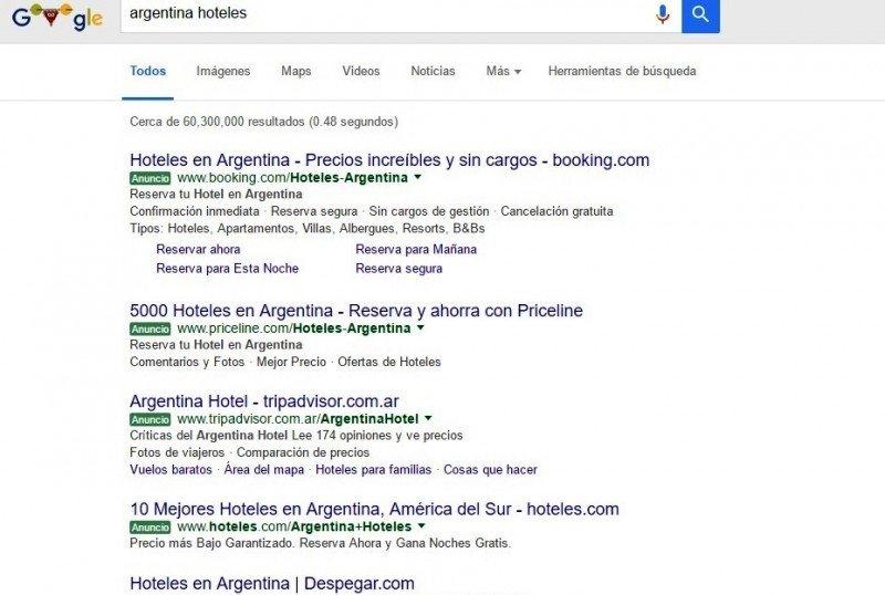 En Argentina crecieron 26% las búsquedas de turismo en Internet