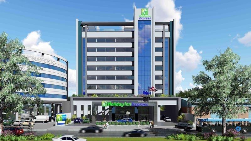 Render del proyecto del Holiday Inn Express en la avenida Aviadores de Asunción.