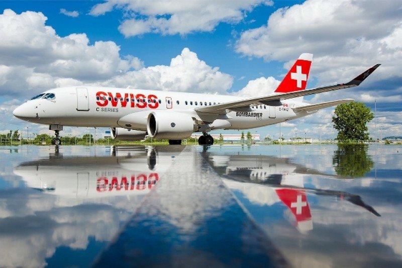 El primer CS100 se integró a la flota de Swiss.