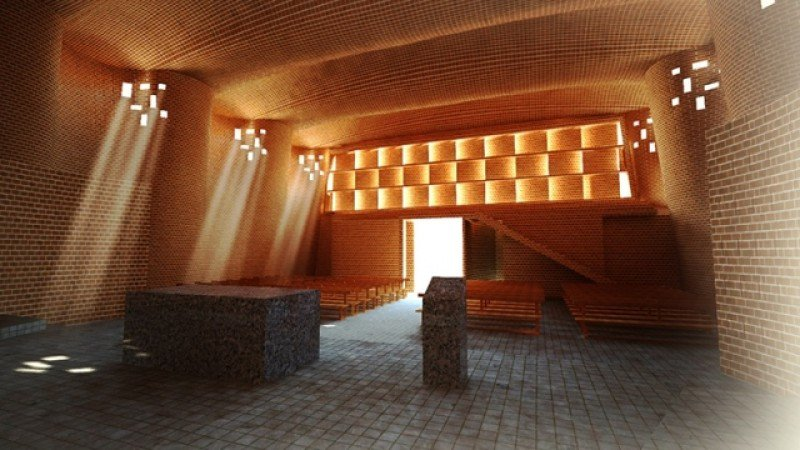 Iglesia Cristo Obrero de Atlántida, una de las creaciones más representativas de la obra de Eladio Dieste.