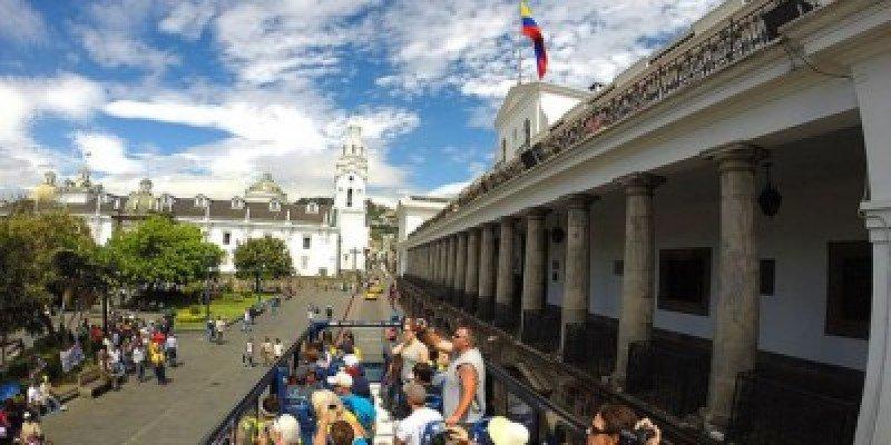 Centro turístico de Quito, Ecuador.