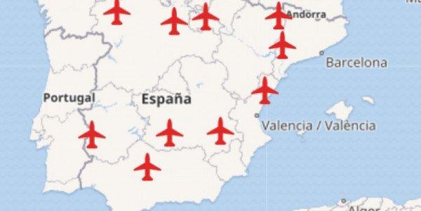 Aeropuertos En España Mapa.Los Aeropuertos Zombis De Espana Que Mas Dinero Costaron