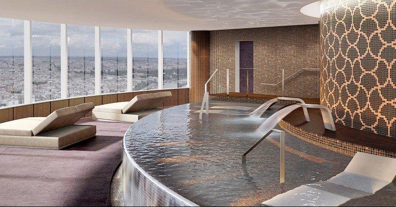 Un spa a 150 metros de altura