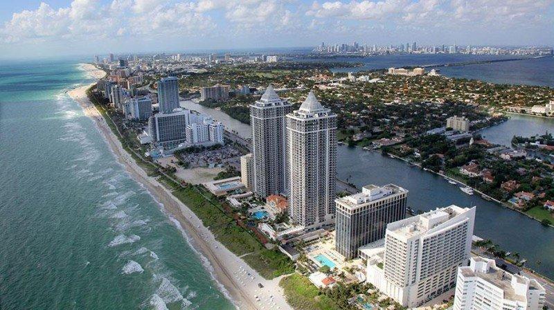 Hoteles y apartamentos en Miami Beach.