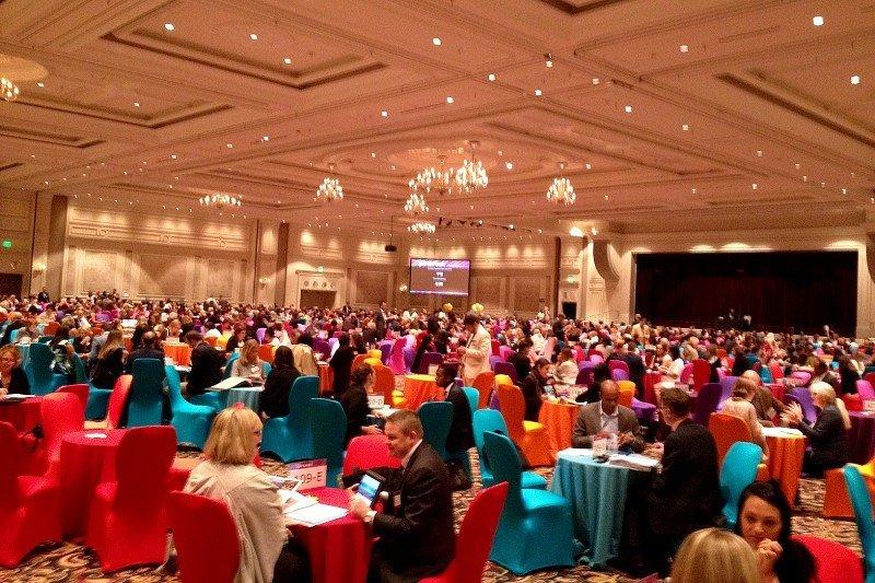 Contactos profesionales durante la Virtuoso Travel Week, celebrada en agosto en Las Vegas.