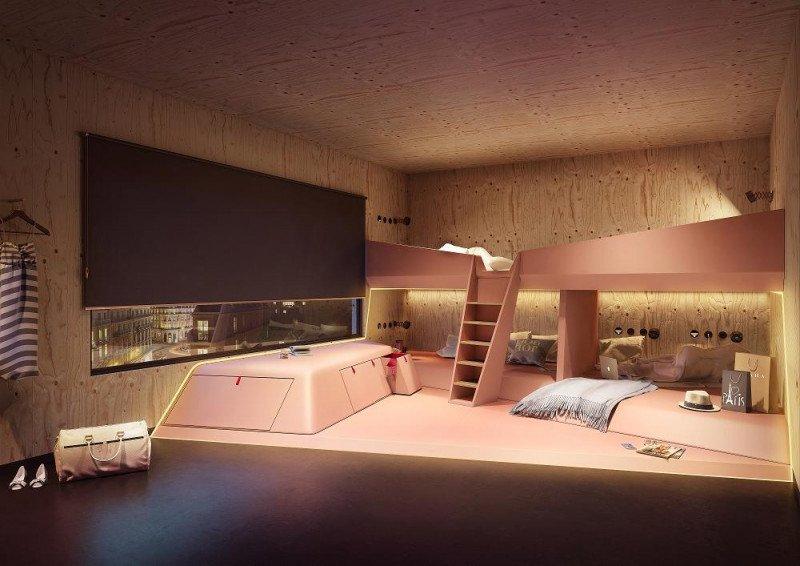 Las YOURS no se parecen en nada a una habitación tradicional por la forma original de las camas.