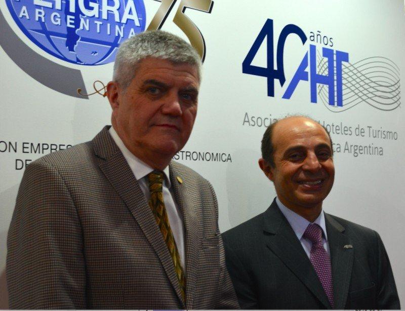 Roberto Brunello (FEHGRA) y Aldo Elías (AHT).