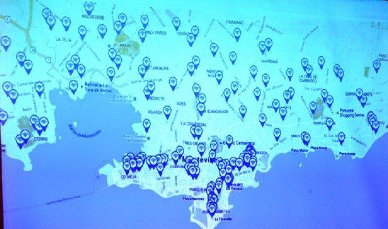 Los 100 puntos incluidos en el proyecto son sitios de atracción turística o de esparcimiento.