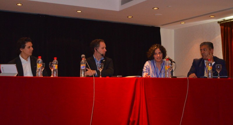 De izq a der: Fernando Marcomini (Radius Travel); Christoff Poppe (United); Silvana Lavenia (Roche) y Horacio Cristaldo (Gestión Compartida).