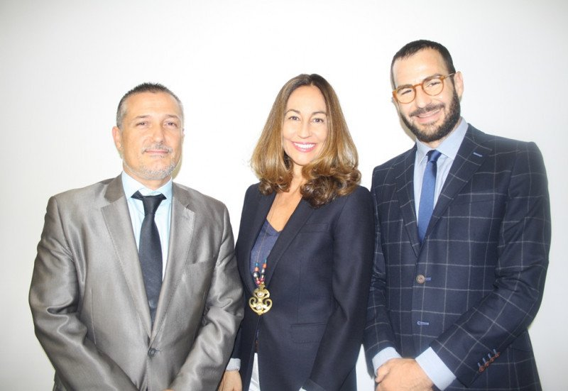 De izq. a dcha, Francisco Marco, África Palau y Marc Molas, los tres socios al frente de Planet Hotels and Resorts.