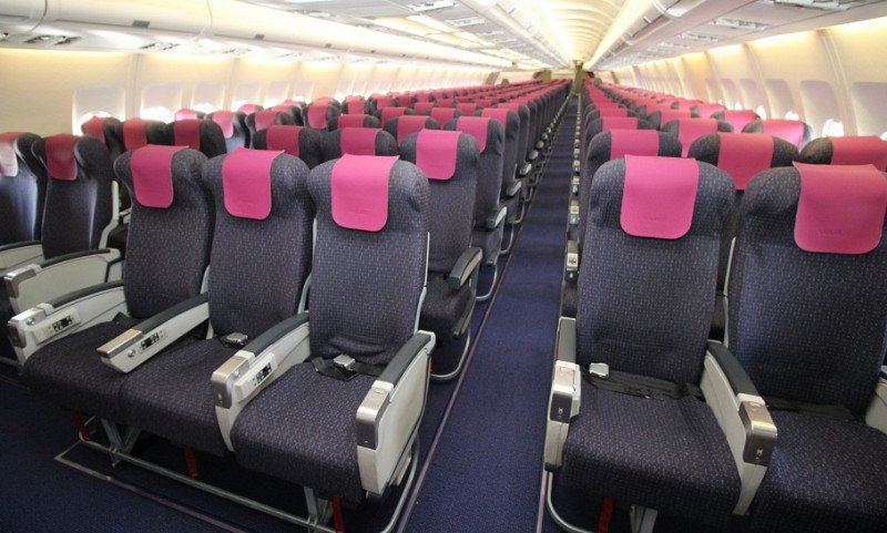 Cabina Turista del A330de Wamos Air.