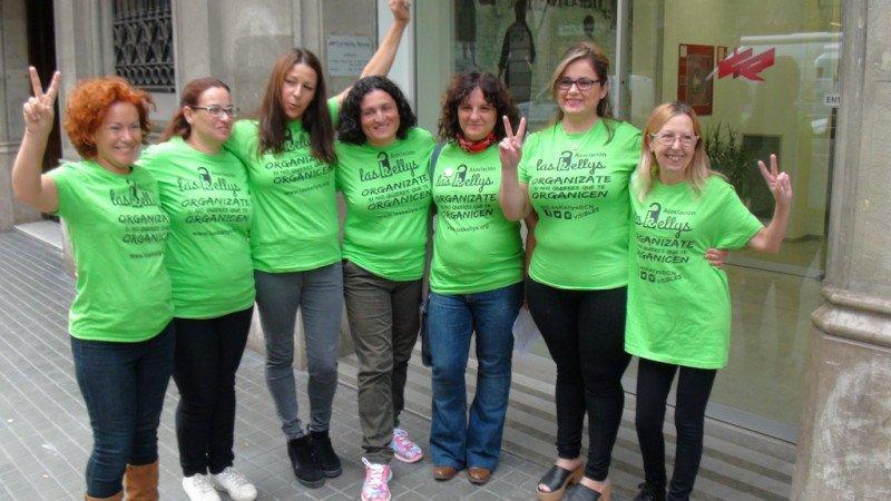 Integrantes de la asociación Las Kellys, esta semana en Barcelona.