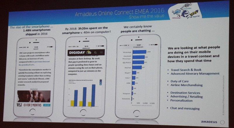 Cifras que muestran el alza imparable del smartphone según Amadeus.