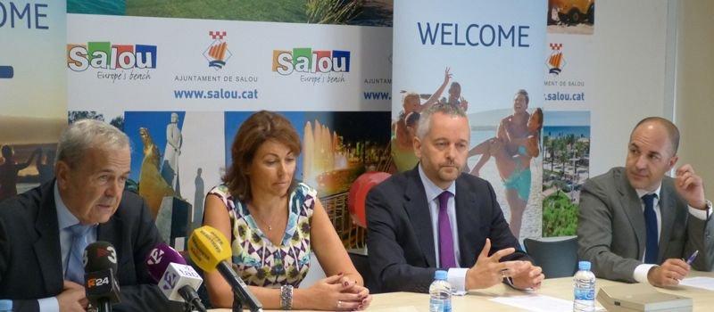 Rueda de prensa ofrecida por el Ayuntamiento de Salou y el grupo turístico TUI, que ha celebrado una convención de agentes de viajes británicos en PortAventura