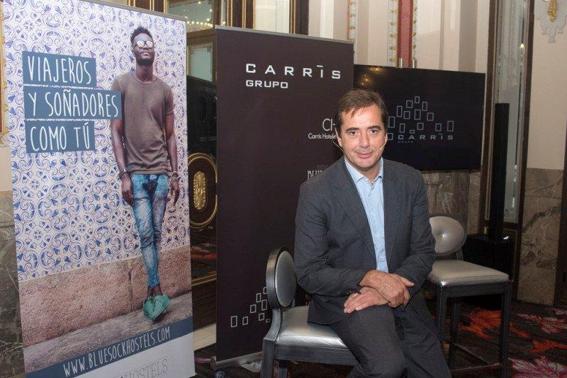 El presidente del Grupo Carrís, Juan Viñas, en su reciente presentación en Madrid.