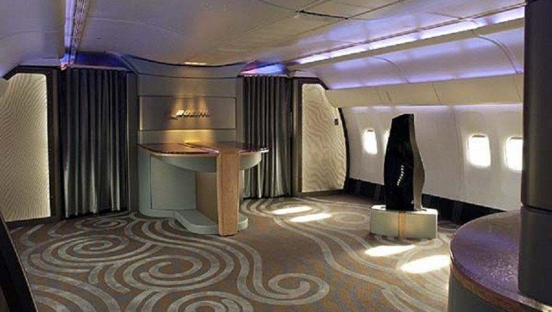 Interiores de los aviones de lujo de Boeing.